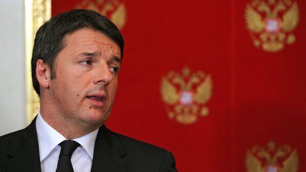 Italský premiér Matteo Renzi - Sputnik Česká republika