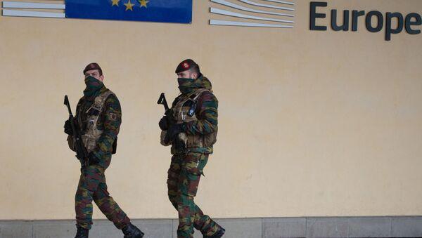Belgičtí vojáci v Bruselu - Sputnik Česká republika