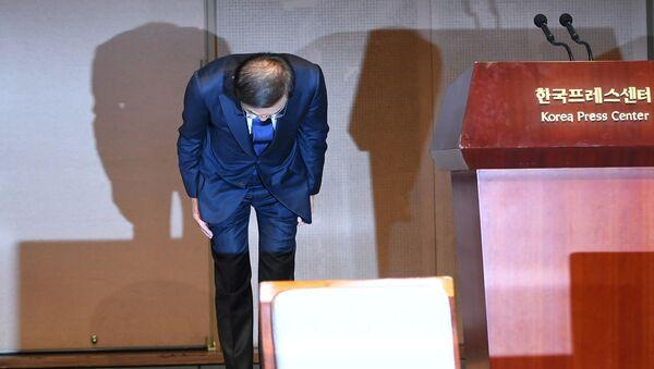 Prezident a generální ředitel společnosti Samsung Electronics Kim Ki Us se omluvili zaměstnancům s diagnózou rakoviny - Sputnik Česká republika