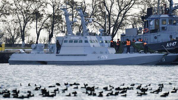 Ukrajinské lodě Nikopol a Jany Kapu - Sputnik Česká republika