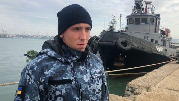 Ukrajinský námořník z posádky člunu Nikopol Sergej Cybizov - Sputnik Česká republika