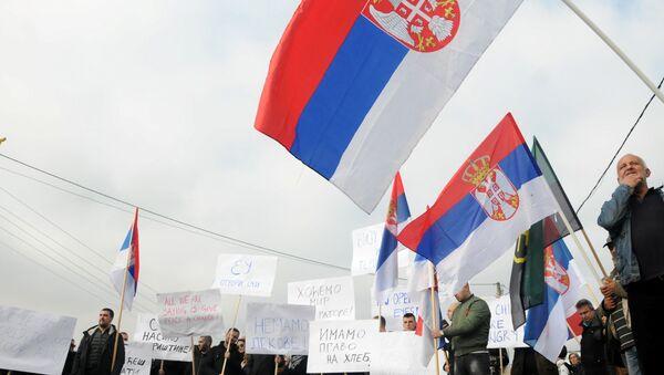 Protest. Kosovo - Sputnik Česká republika
