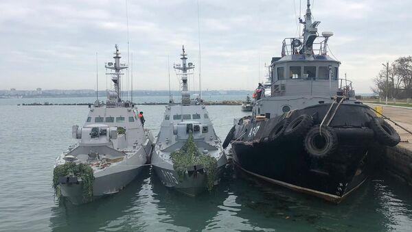 Ukrajinské lodě zadržené ruskými pohraničníky - Sputnik Česká republika