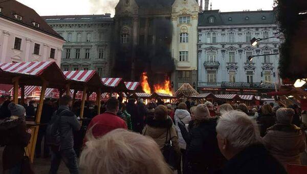 Požár v Bratislavě - Sputnik Česká republika