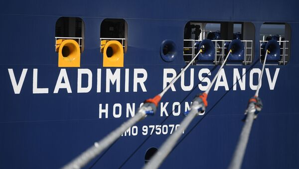 Ruský tanker Vladimir Rusanov s LNG v čínském přístavu - Sputnik Česká republika