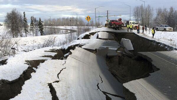 Následky zemětřesení na Aljašce - Sputnik Česká republika