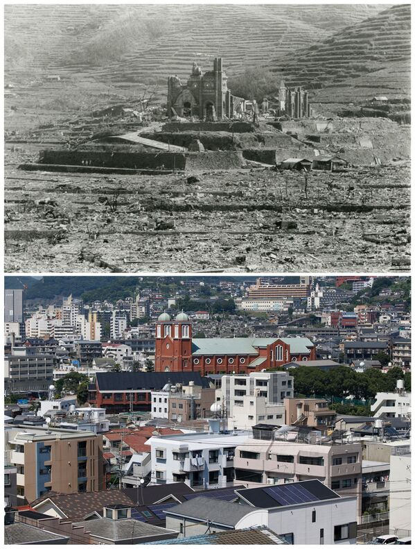 Hirošima a Nagasaki ve srpnu r. 1945 a 70 let poté - Sputnik Česká republika