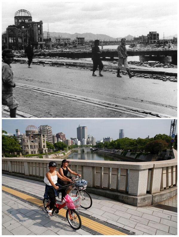 Hirošima a Nagasaki ve srpnu r. 1945 a 70 let potéбардировки 6 августа 1945 года и Мемориал мира в наши дни - Sputnik Česká republika