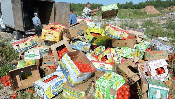 Likvidace potravin v Rusku - Sputnik Česká republika