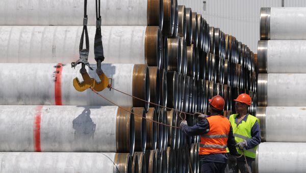 Budování plynovodu - Sputnik Česká republika