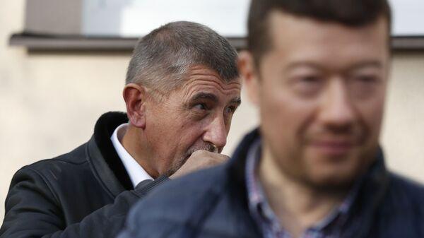 Tomio Okamura (za SPD) a Andrej Babiš (za ANO) - Sputnik Česká republika