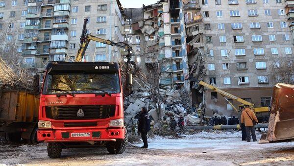 Dům v Magnitogorsku, kde došlo k výbuchu plynu - Sputnik Česká republika
