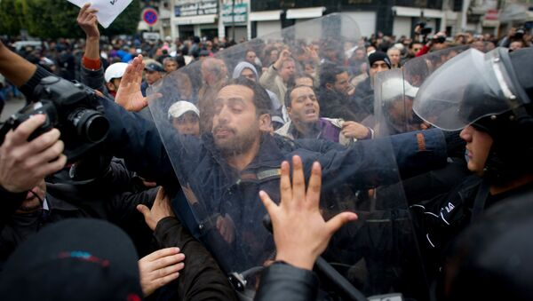 Protestní akce v Tunisu - Sputnik Česká republika