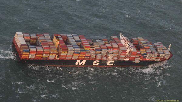 Nákladní loď MSC Zoe - Sputnik Česká republika