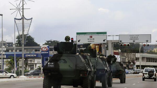 Military Armoured Vehicles in Libreville, Gabon, 2016 - Sputnik Česká republika