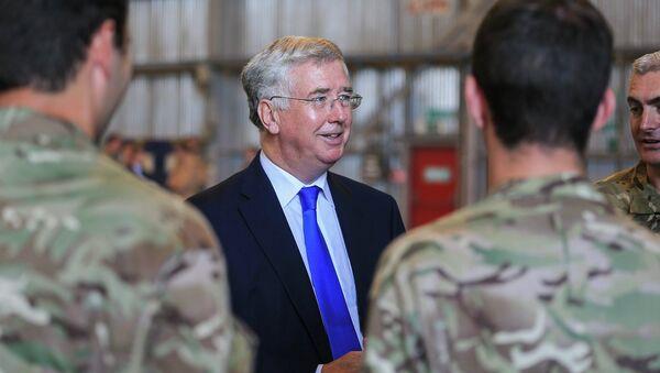 Britský ministr obrany Michael Fallon - Sputnik Česká republika