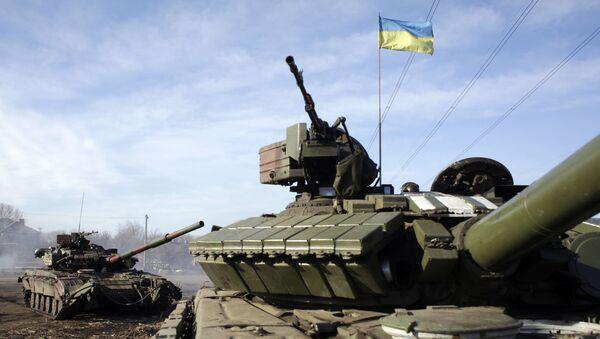 Ukrajinští vojáci v Horlivce - Sputnik Česká republika