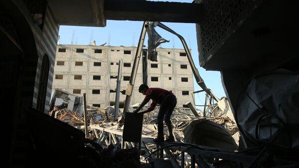 Následky izraelského útoku na Pásmo Gazy - Sputnik Česká republika