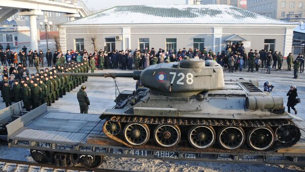 Jeden z tanků T-34, které Laos předal Rusku - Sputnik Česká republika