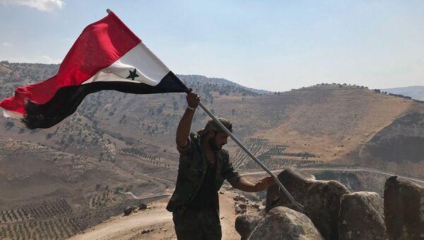Syrský voják v provincii Dar'á - Sputnik Česká republika