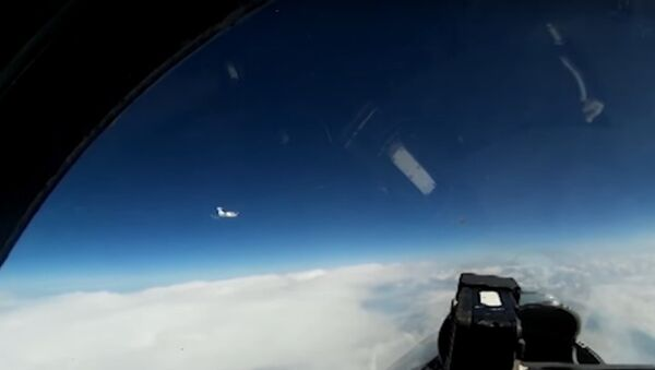 Ruský Su-27 zachytil průzkumný letoun nad Baltským mořem - Sputnik Česká republika