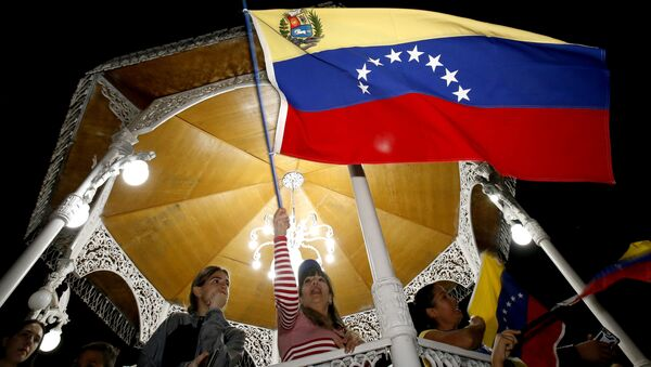 Protesty proti Madurovi v Caracasu - Sputnik Česká republika