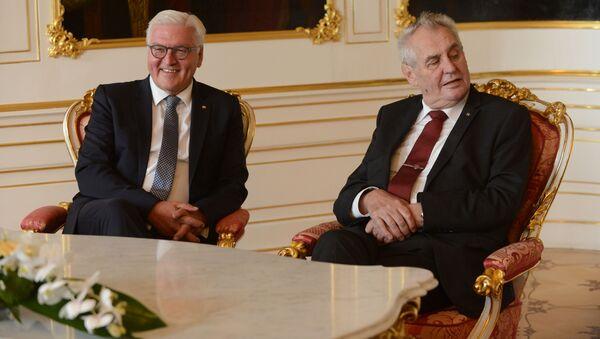 Německý prezident Frank Frank-Walter Steinmeier a český prezident Miloš Zeman na Pražském hradě (12. 9. 2017) - Sputnik Česká republika