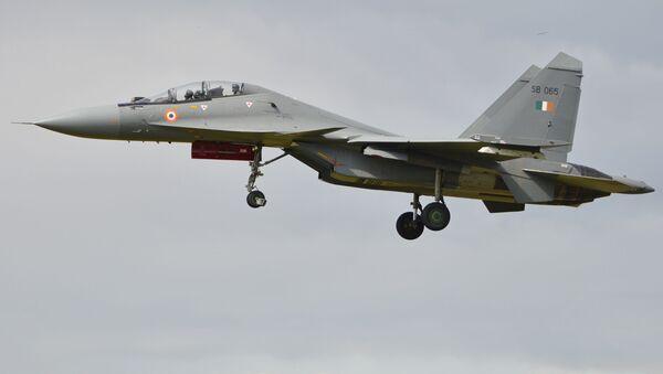 Многоцелевой истребитель Су-30МКИ  - Sputnik Česká republika