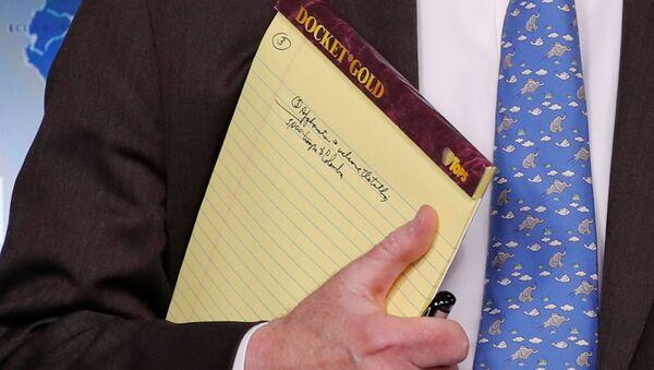 Zápisník amerického poradce pro národní bezpečnost Johna Boltona - Sputnik Česká republika
