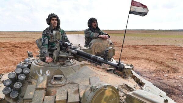 Vojáci syrské armády v provincii Aleppo. - Sputnik Česká republika