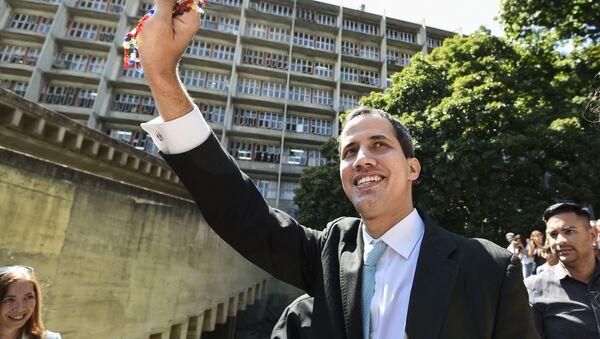 Předseda venezuelského opozičního parlamentu Juan Guaidó - Sputnik Česká republika
