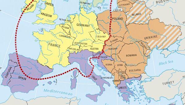 Mapa Evropy v americké učebnici zeměpisu - Sputnik Česká republika