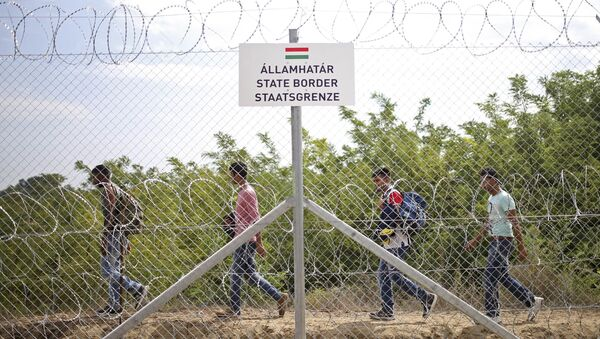 Běženci na maďarsko-srbské hranici - Sputnik Česká republika
