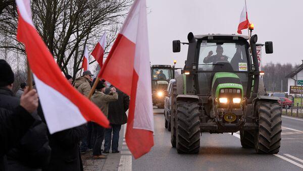 Protesty polských farmářů. Ilustrační foto - Sputnik Česká republika