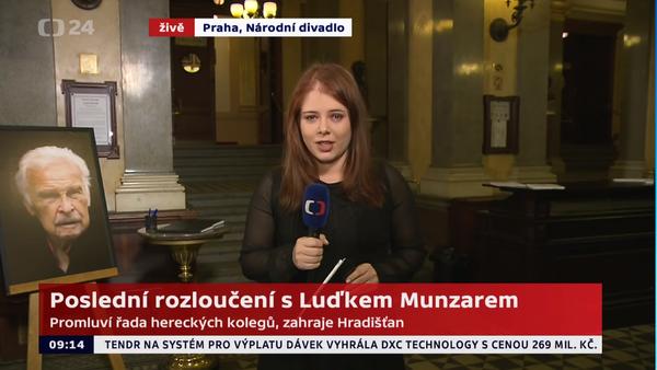 Luděk Munzar: Přelet rakve nad Národním divadlem - přebrept na ČT24 (1. 2. 2019) - Sputnik Česká republika