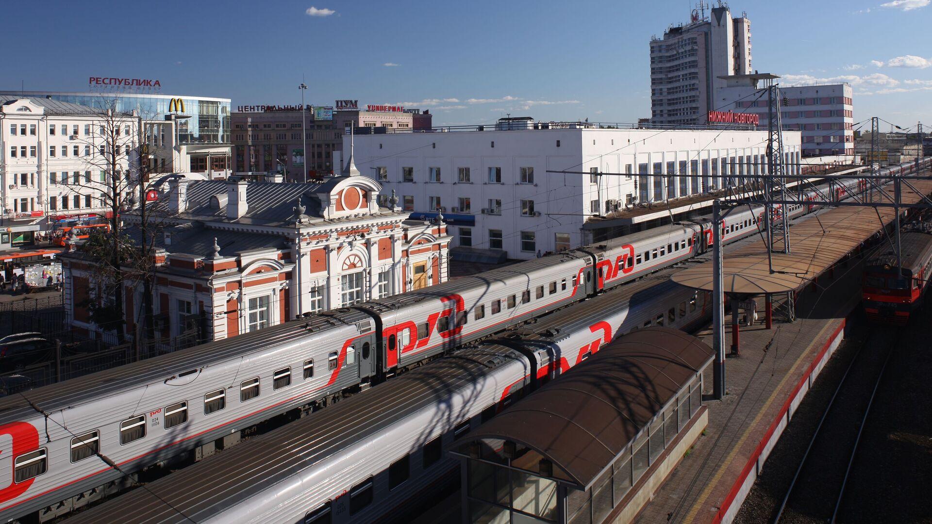 Железнодорожный вокзал Нижнего Новгорода - Sputnik Česká republika, 1920, 04.09.2021