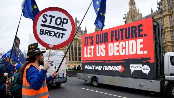 Protesty proti brexitu v Londýně - Sputnik Česká republika