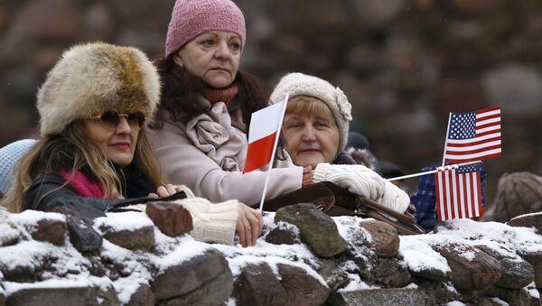 Poláci vítají americké vojáky - Sputnik Česká republika