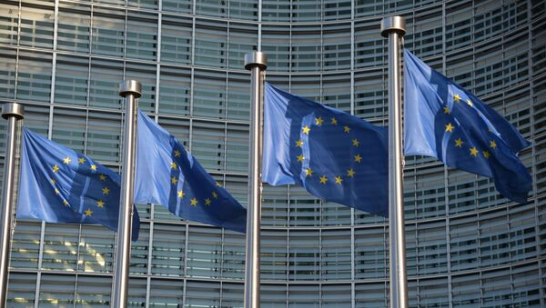 Флаги ЕС в Брюсселе - Sputnik Česká republika