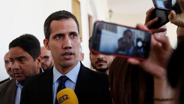 Vůdce venezuelské opozice, předseda Národního shromáždění Juan Guaidó - Sputnik Česká republika