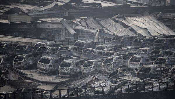 Exploze v čínském Tchien-ťinu - Sputnik Česká republika