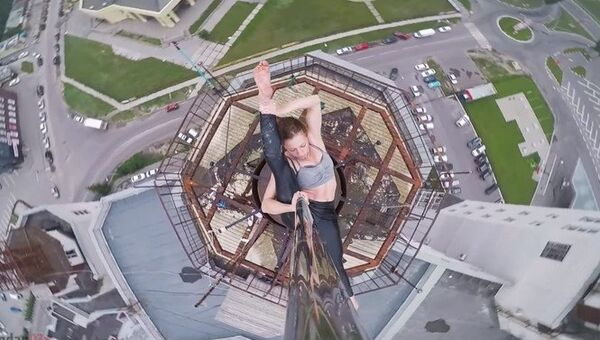 Ruska tančila u tyče ve výšce téměř 100 metrů nad zemí - Sputnik Česká republika