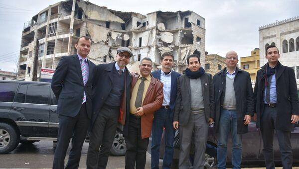 Člen české humanitární mise v Sýrii Stanislav Mackovík v Aleppu - Sputnik Česká republika