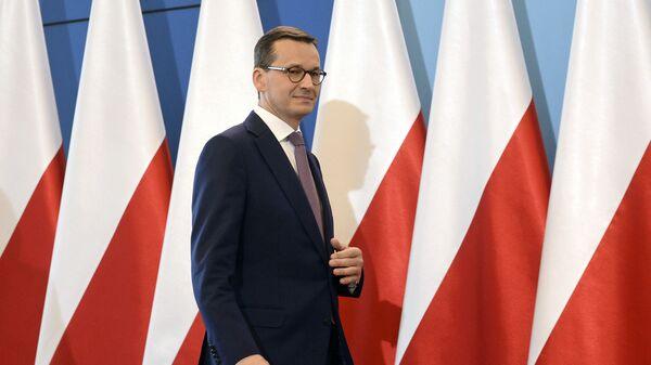 Премьер-министр Польши Матеуш Моравецкий. Архивное фото - Sputnik Česká republika
