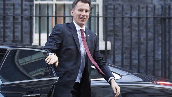 Britský ministr zahraničí Jeremy Hunt - Sputnik Česká republika