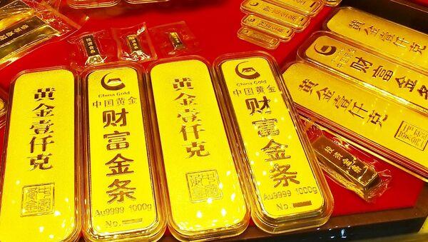 Zlato v čínském obchodě - Sputnik Česká republika