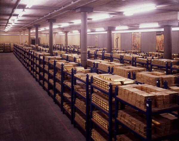 Sklad zlata Bank of England - Sputnik Česká republika