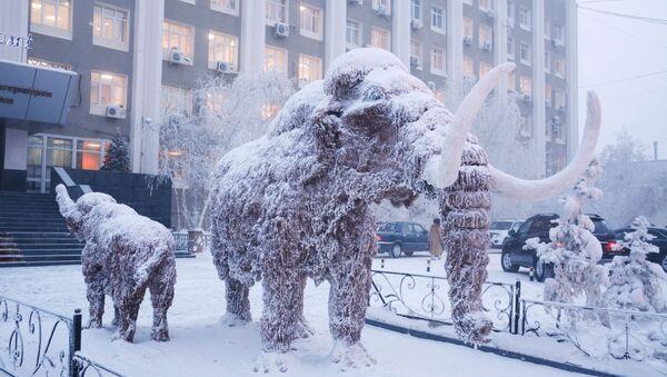 Socha mamuta v Jakutsku - Sputnik Česká republika