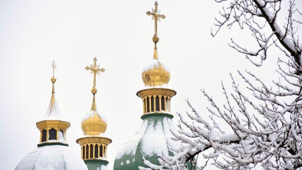 Kupole Sofijského chrámu v Kyjevě. Ilustrační foto - Sputnik Česká republika