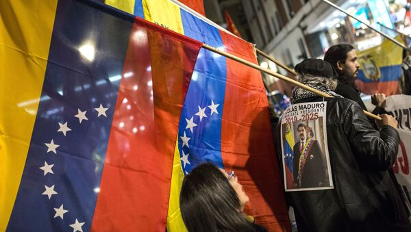Akce na podporu Nicoláse Madura ve Venezuele - Sputnik Česká republika